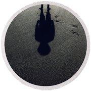 Shadow Round Beach Towel