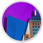 Shadow Of The City Round Beach Towel