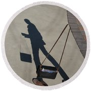 Shadowing Me Round Beach Towel by Nikki Marie Smith