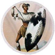 Shaka Zulu (c1787-1828) Round Beach Towel