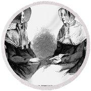 Shaker Women, 1875 Round Beach Towel