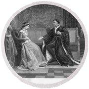 Shakespeare: King Henry V Round Beach Towel