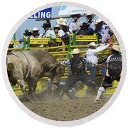 Rodeo Shaking It Up Round Beach Towel