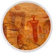 Shamans Of The Rock Round Beach Towel