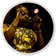 Sharon Jones Round Beach Towel