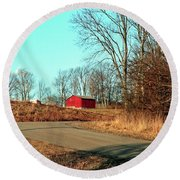 Shed Around The Bend Round Beach Towel