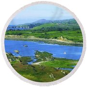 Sheeps Head, Co Cork, Ireland Headland Round Beach Towel