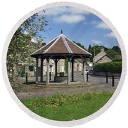 Sheepwash Well - Ashford-in-the-water Round Beach Towel