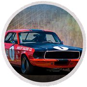Shelby Racing Co Mustang Round Beach Towel