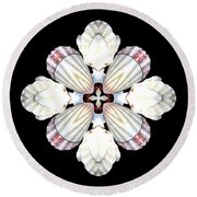 Shell Art 2 Round Beach Towel