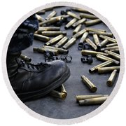 Shell Casings From A .50 Caliber Round Beach Towel