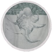 Shell Landscape Round Beach Towel