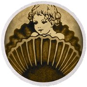 Shell With Child 2 Round Beach Towel by Georgeta  Blanaru