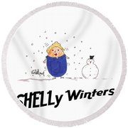 Shelly Winters Round Beach Towel