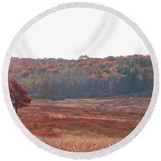 Shenandoah Plain Round Beach Towel