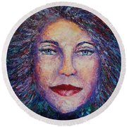 She's Come Undone Round Beach Towel by Shannon Grissom