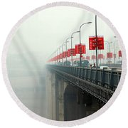 Shibanpo Bridge Round Beach Towel