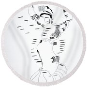 Shikat Dance - Morocco Round Beach Towel