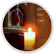 Shine Your Light Round Beach Towel