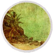 Shipwrecked Round Beach Towel