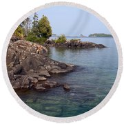 Shore Of Isle Royale Round Beach Towel