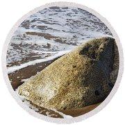 Shoreline Rock Round Beach Towel