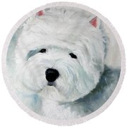 Show Dog  Round Beach Towel