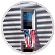 Showing The Flag Round Beach Towel