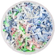 Shredded Paper Round Beach Towel by Tom Gowanlock