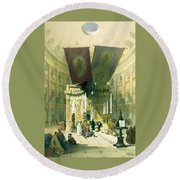 Shrine Of The Holy Sepulchre April 10th 1839 Round Beach Towel