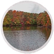 Sibley Pond Round Beach Towel