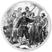Sicily: Guerrillas, 1860 Round Beach Towel