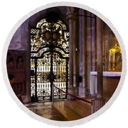 Side Chapel St Stephens - Vienna Round Beach Towel
