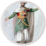 Sidy Hafsan, Bey Of Tripoli, 1816 Round Beach Towel