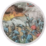Siege And Capture Of Vicksburg, 1863 Round Beach Towel by Photo Researchers