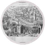 Siege Of Orleans, 1428-1429 Round Beach Towel