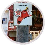 Sign - Fire Chief Gasoline Round Beach Towel