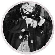 Silent Film Still: Clown Round Beach Towel
