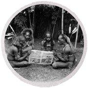 Silent Film Still: Natives Round Beach Towel