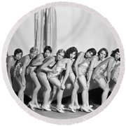 Silent Still: Showgirls Round Beach Towel