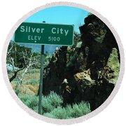 Silver City Nevada Round Beach Towel