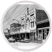 Silver City New Mexico Round Beach Towel