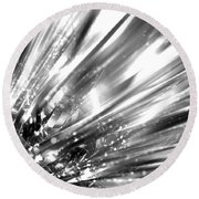 Silver Explosion Round Beach Towel
