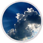Silver Lining I Round Beach Towel