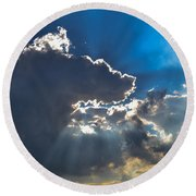 Silver Lining Round Beach Towel