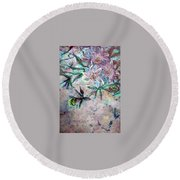 Silver Passions Round Beach Towel