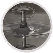 Silver Reflections Round Beach Towel