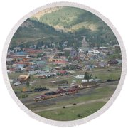 Silverton Colorado Painterly Round Beach Towel