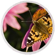 Simple Butterfly Round Beach Towel