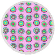 Simple Spots Round Beach Towel by Louisa Knight